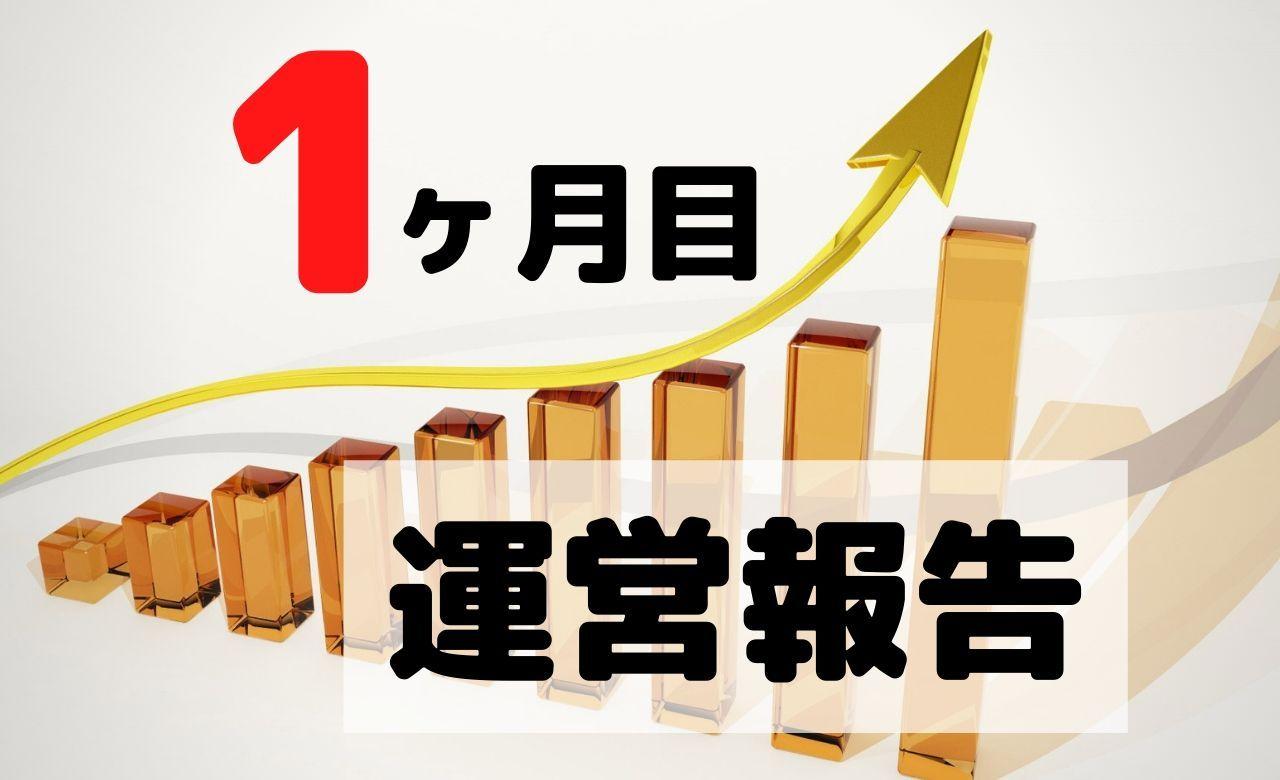 【ブログ運営報告】1ヶ月目のPV(アクセス数)と収益を公開
