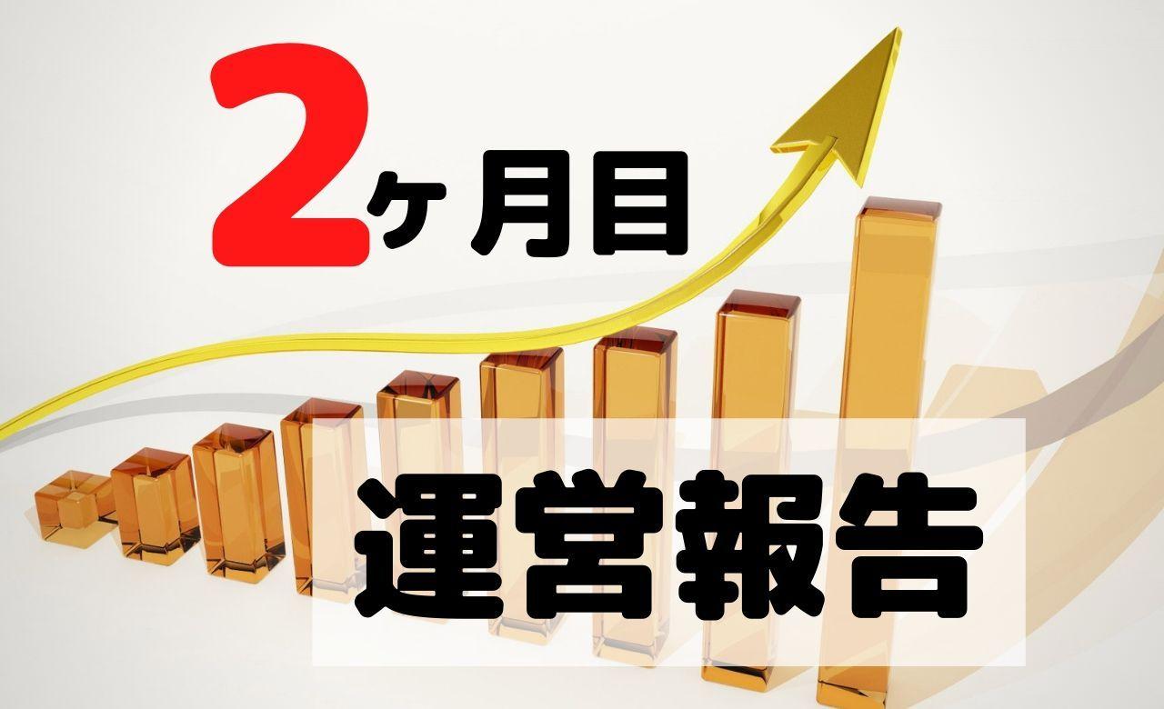 【ブログ運営報告】2ヶ月目のPV(アクセス数)と収益を公開