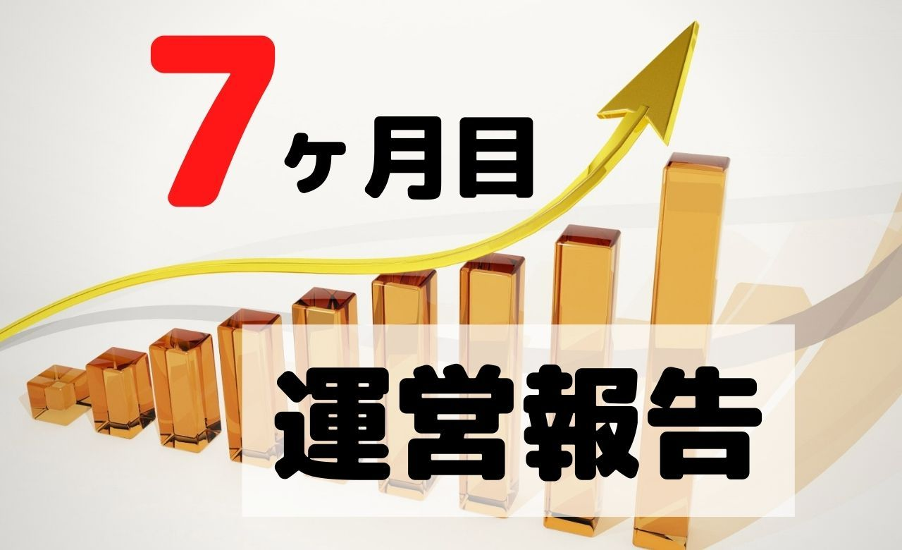 【ブログ運営報告】7ヶ月目のPV(アクセス数)と収益を公開