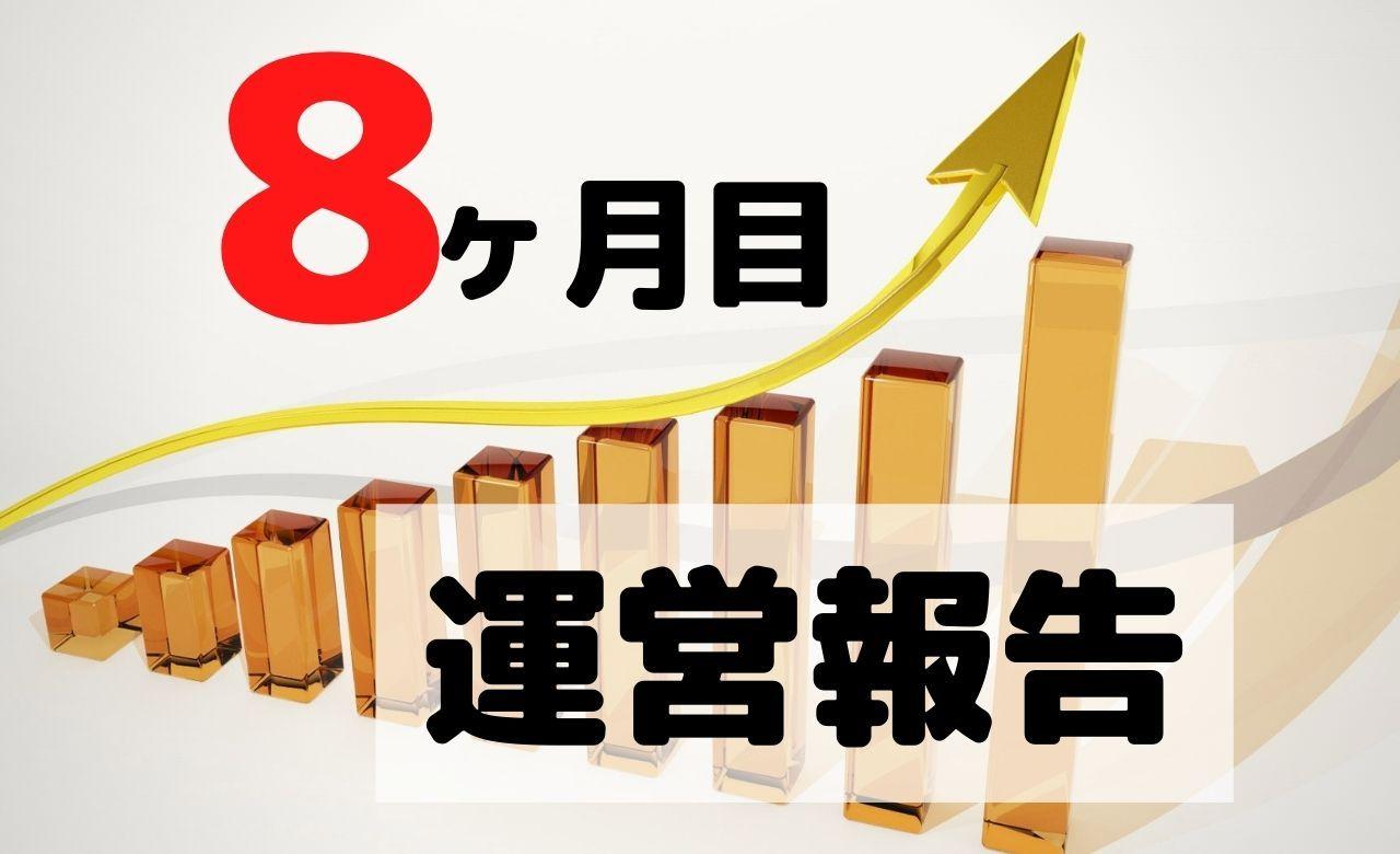 【ブログ運営報告】8ヶ月目のPV(アクセス数)と収益を公開