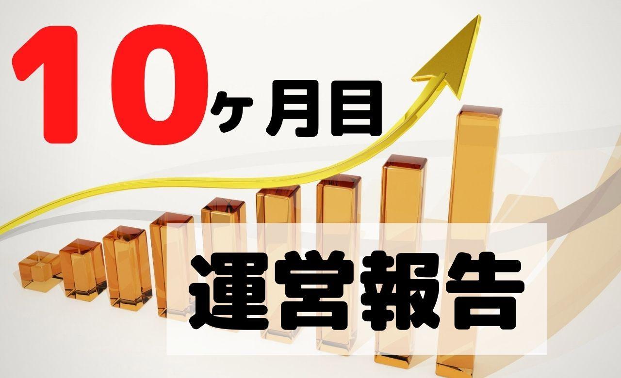 【ブログ運営報告】10ヶ月目のPV(アクセス数)と収益を公開