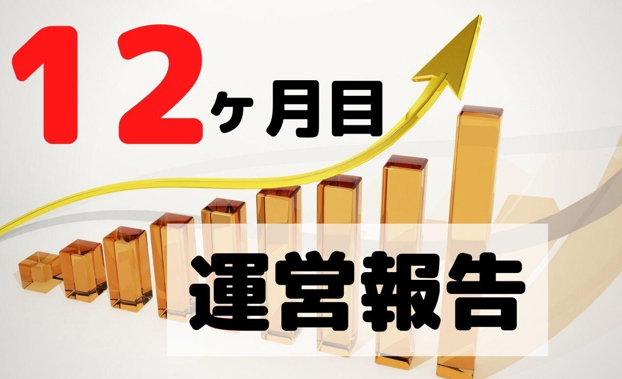 【ブログ運営報告】12ヶ月目のPV(アクセス数)と収益を公開