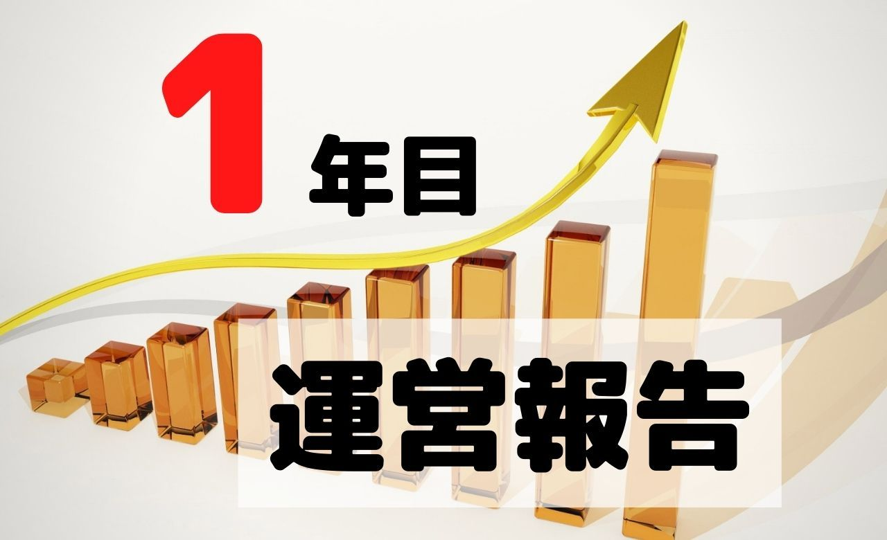 【ブログ運営報告】1年目のPV(アクセス数)と収益を公開